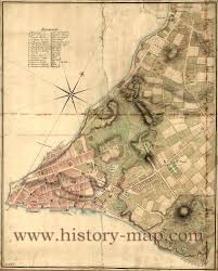 Map Of New York Harbor by York City In 1700 U0027s