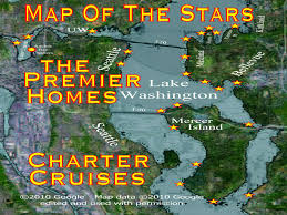 Seattle Google Map by Seattle Mansions Map Of The Stars Cruises