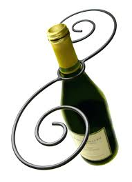 table top tabletop wine glass rack swirl 1 bottle and holder
