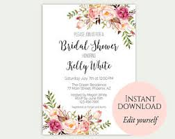 bridal shower invites bridal shower invitation etsy