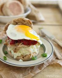 turkey mashed potato breakfast sandwiches for a