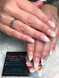 ombré with almond shape and swarovski crystals we are