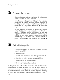 vital signs and observation of patient