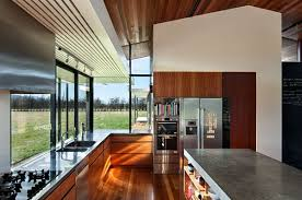 architecture comfortable kitchen design with modern decoration