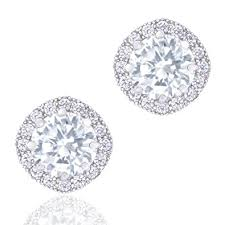 white earrings orrous co premium 18k cubic zirconia earrings