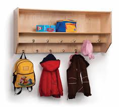 double row wall mount coat rack whitney bros