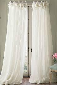 White Ruffle Curtain Panels Linen Balloon Drapery Panel Drapery Panels Window Panels And