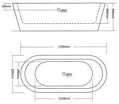 Normal Bathtub Size Only 475 Turin Fsb003 Designer Modern Freestanding Bath Vip