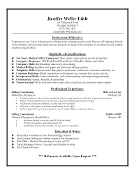 Insurance Resume Examples by Medical Billing Resume Examples