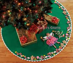 bucilla sugar plum fairy 43 felt christmas tree skirt