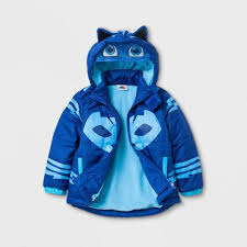 toddler boys pj masks puffer jacket blue target