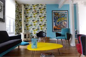 objet deco retro stunning salon bleu vintage images home decorating ideas