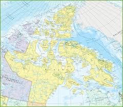 Detailed World Map Large Detailed Map Of Nunavut