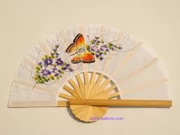held paper fans wholesale held fans in artificial silk manufacturer thailand