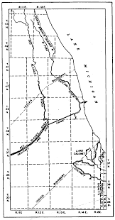 Chicago District Map by Description Of The Chicago District Topography