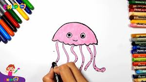jellyfish drawing how to draw a jellyfish for kids youtube