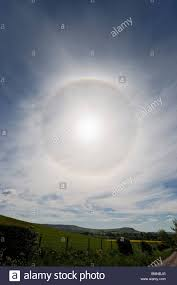 ring around sun in cirrus clouds stock photo 29973624 alamy