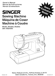 singer sewing machine 18024000 pdf user u0027s manual free download