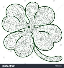 coloring page cute clover vector stock vector 430924513
