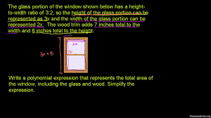polynomial word problem area of a window video khan academy