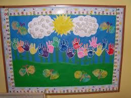 rain or shine we grow together spring bulletin board idea