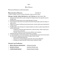 Manufacturing Engineering Manager Resume Operations Manager Resume 14 Useful Materials For Branch