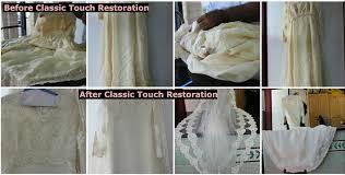 wedding dress restoration wedding dress restoration atlanta classic touch cleaners