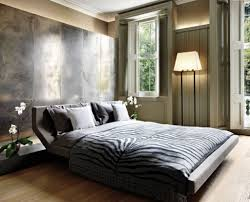 stylish contemporary bedroom style with platform bed frame and