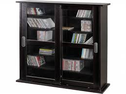 Sauder Bookcase With Glass Doors by Entertainment Cabinet With Glass Doors
