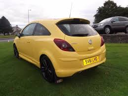 vauxhall yellow used vauxhall corsa hatchback 1 2 i 16v limited edition 3dr a c