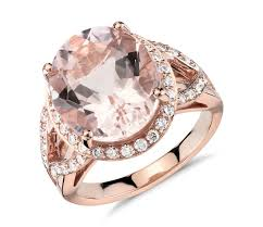 morganite gold engagement ring morganite and diamond halo ring in 18k gold 13x11mm blue nile