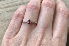 small ruby rings images Ruby tiny marquise ring stackable silver ruby ring july jpg