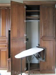 ironing board closet cabinet swivel ironing board orange county ny rylex custom cabinetry
