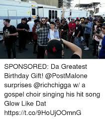Birthday Gift Meme - sponsored da greatest birthday gift surprises w a gospel choir