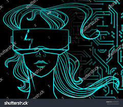 vector hand drawn hitech illustration beautiful stock vector