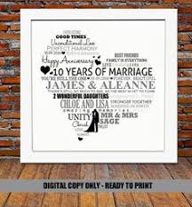 10 year wedding anniversary gifts 23rd wedding anniversary 23 years married by pepperandbluedesigns