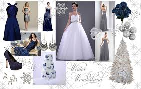 silver and blue color scheme inspiration for a winter wedding