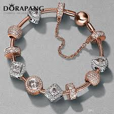 sterling silver rose bracelet images Dorapang 2017 newest 100 925 sterling silver rose gold bracelet jpg