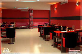 red toned restaurant interior designs kerala home design and