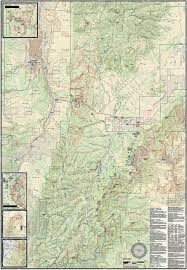 Park City Utah Trail Map by Bryce Canyon Brian Head Utah Trail Map Utah Adventure Maps