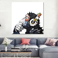 home decor online sales 50 50cm hd printed frameless orangutan pattern canvas sales