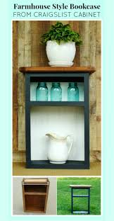 old bookcases for sale thrifted cabinet into farmhouse style bookcase farmhouse style