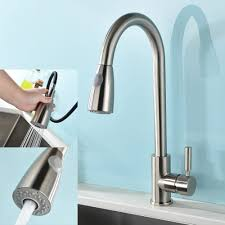 inchant modern brushed nickel kitchen sink pull out mixer tap