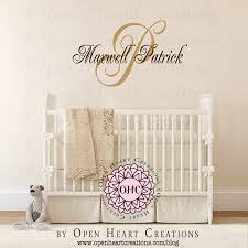 name wall decals for nursery popular items for baby name decals initial with name overlay personalized custom made wall decal nursery wall decals