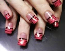 red and black french tip idea amazingnailart org