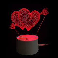valentines day lights 2018 s day gift arrow through hearts touch switch