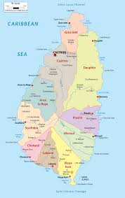 Map Of Caribbean Countries by Detailed Clear Large Map Of Saint Lucia Ezilon Maps