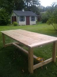 Ana White Farmhouse Table Bench Ana White Outdoor Farmhouse Table Made Of Cedar Diy Projects