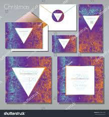 christmas party invitations set envelope template stock vector