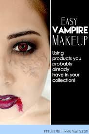easy halloween vampire makeup look using only